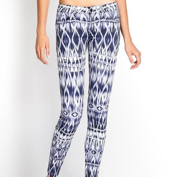 GUESS! BRITTNEY ABSTRACT PRINT MID RISE LEGGING NWT